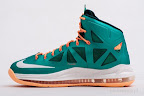 nike lebron 10 gr miami dolphins 5 02 Gallery: Nike LeBron X Miami Setting or Dolphins if you Like