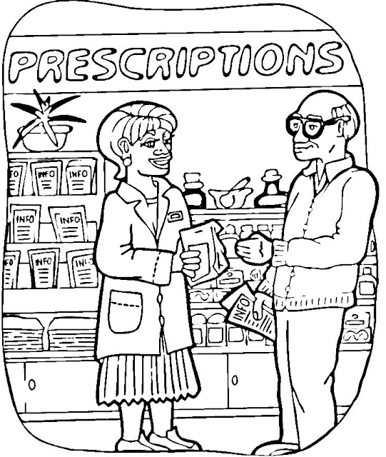 coloring pages pharmacist - photo#9