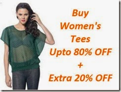 Fashionandyou : Buy Women's Tees Upto 80% OFF + Extra 20% OF