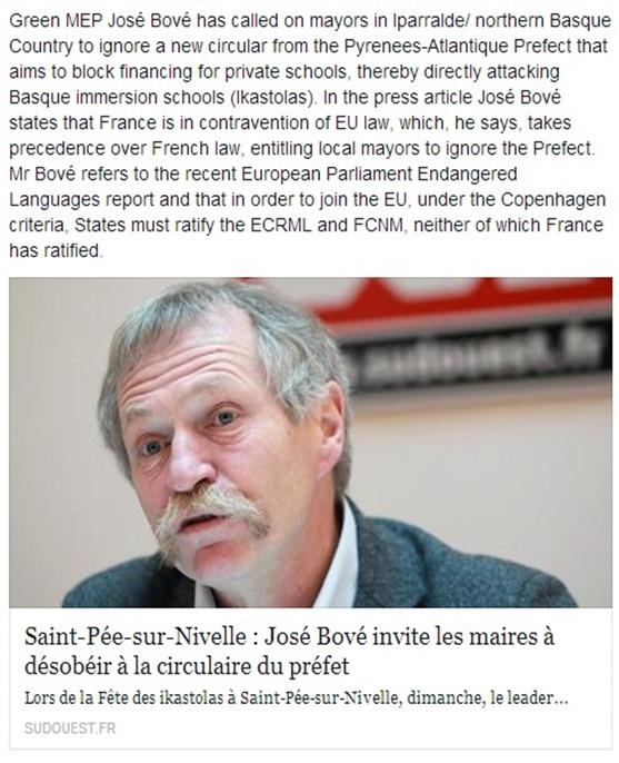 José Bové en version anglesa