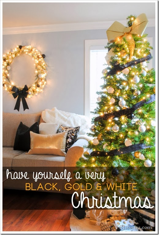 Black Gold and White Christmas Decor