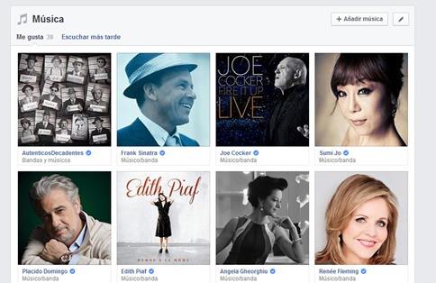 Agregar música en mi biografía de Facebook