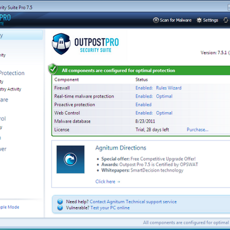 Agnitum Outpost Security Suite Pro 7.5 Review And Giveaway