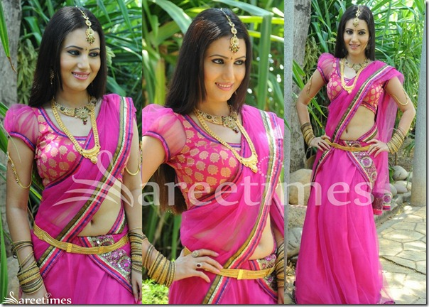 Anu_Smruthi_Ruffeld_Sleeves_Saree_Blouse