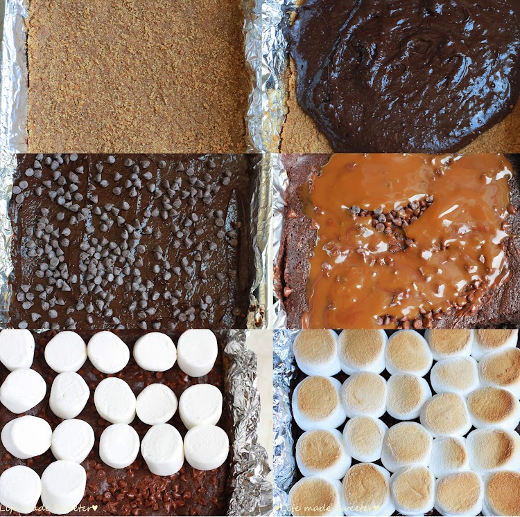 Salted Caramel S'mores Brownies Collage.jpg