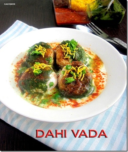 dahi vada plate