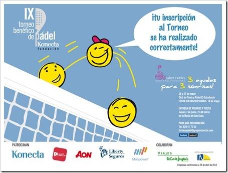 IX Torneo Benéfico de Pádel Fundación KONECTA 26 y 27 de mayo de 2012 en Madrid.