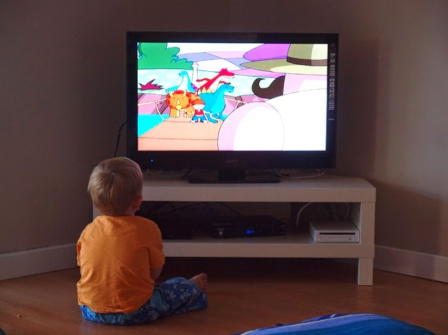 ode - watches telly after his first blood nose