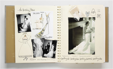 Here's the inside of our wedding scrapbook I published to help brides document their whole wedding experience from engagement through your honeymoon.