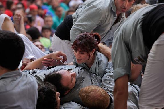 Castellers de Sants, 3 de 9 amb folre. XXIIIè Concurs de Castells a Tarragona. Tarraco Arena Plaça (antiga plaça de braus). Tarragona, Tarragonès, Tarragona