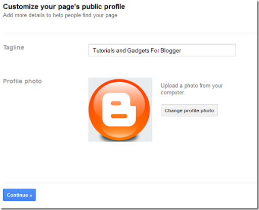 Creating Google Plus Brand Page - Tag Line and Profile Photo
