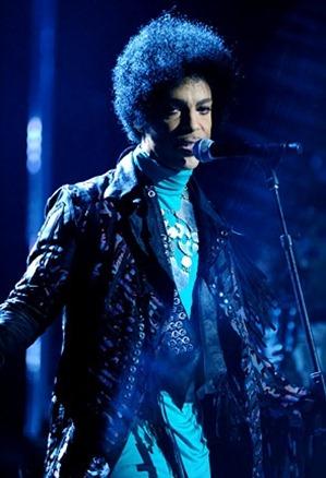 Prince performs