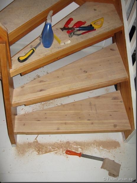 Två trappsteg klara att grundmålas