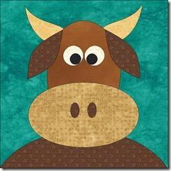 appliqued animals cow2