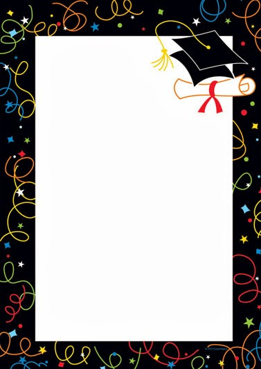 Grad swirls graduation invitation