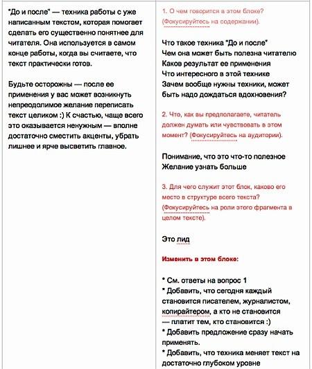 """Техника """"До и после"""" для создания качественных текстов"""