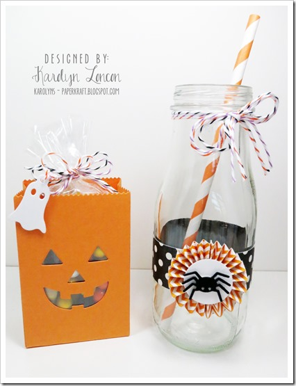 MFT Halloween Party Ensemble Black Favor & Bottle Rosette
