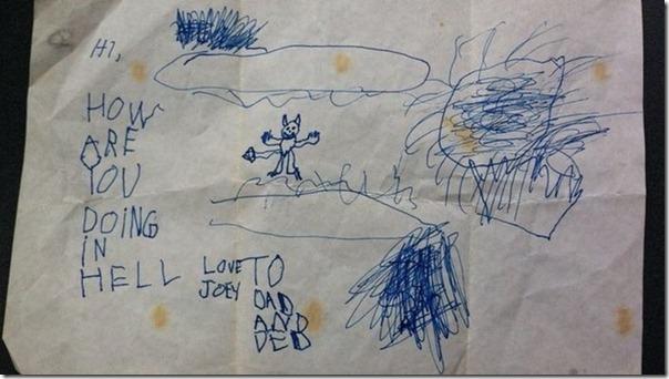 Desenhos bizarros de crianças (3)