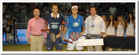 Belasteguin-Díaz y Navarro-Reiter parejas campeonas en el Bwin PPT Benicassim 2011.