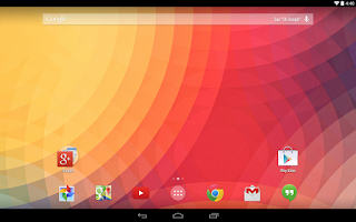 Screenshot of Google Now Launcher