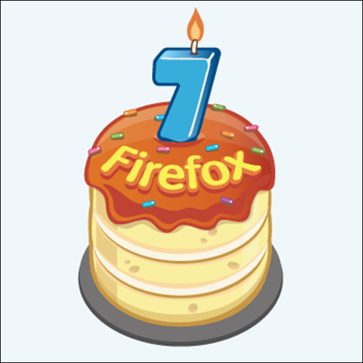 Firefox is now 7 years old