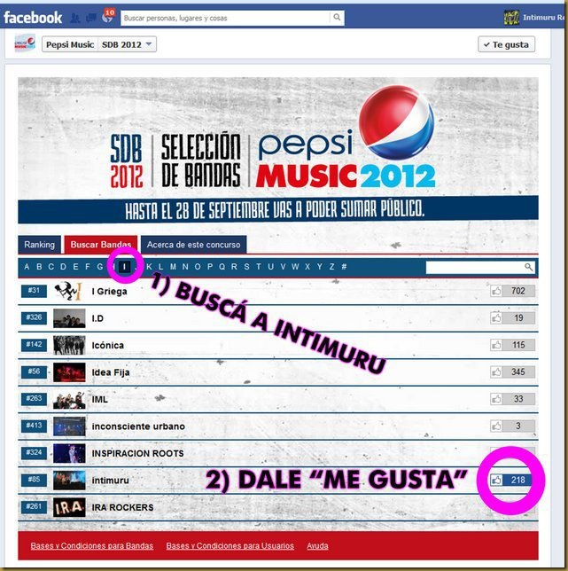 Intimuru Pepsi Music
