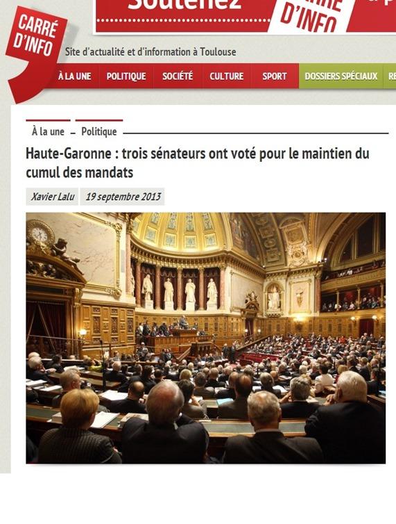 cumul dels mandats al Sénat