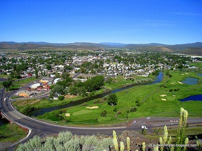 Looking down on Prineville
