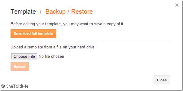 Backup-Restore-Template