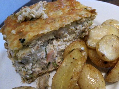 Chicken Pie w Roasted Potatoes