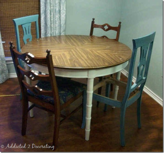 dining table makeover before