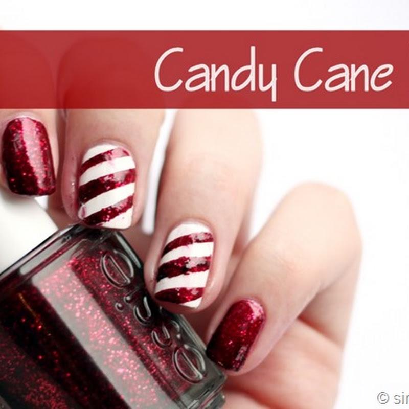 Candy Cane Nails mit Essie