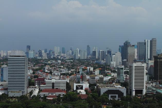 Jakarta skyline seen from Monas