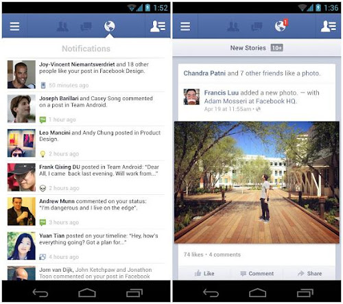 Facebook per Android 2.0