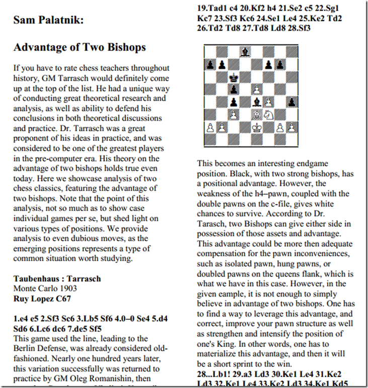 Sam Palatnik - Advantage of Two Bishops