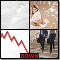 DOWN- 4 Pics 1 Word Answers 3 Letters