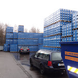 weihenstephan crates in Freising, Bayern, Germany