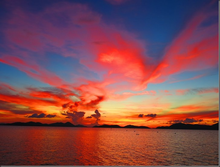 beautiful sunset sangat island phillippines