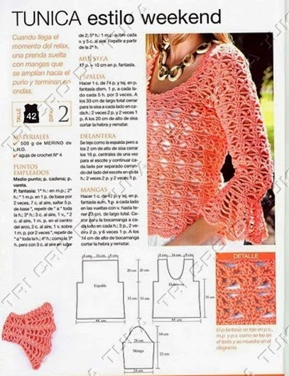 jersey rosa manga volante patron crochet1