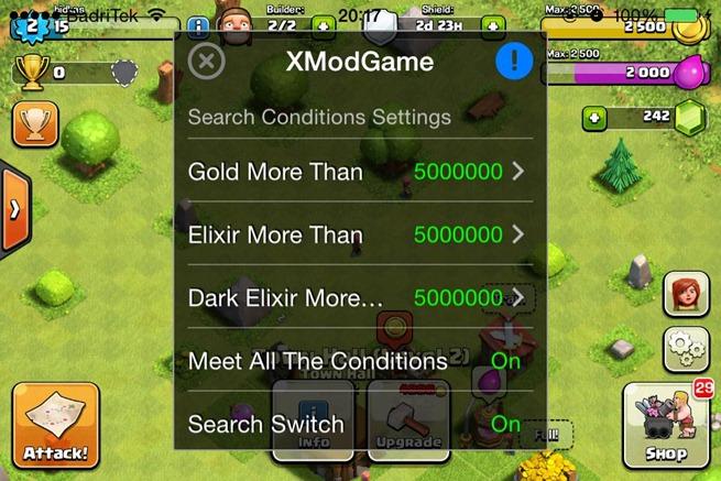 xmodgames для clash of clans скачать