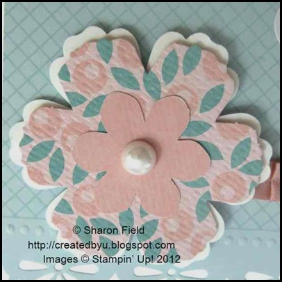 die cuts and card stock layered blossom 033012