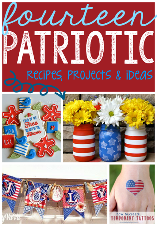 14 Patriotic Recipes, Projects & Ideas at GingerSnapCrafts.com #linkparty #features#4thofJuly_thumb[6]
