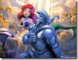 Quebra-cabeça amor da sereia Ariel