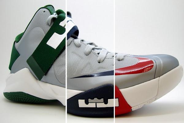 4 x Nike Zoom Soldier VI Team Bank Black Navy Green amp Red