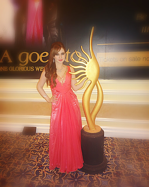 Stephanie Timmins at the IIFA Awards, 2013