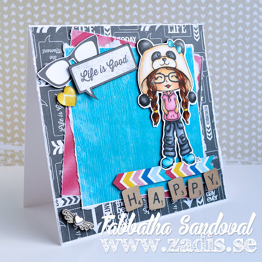 Life is Good Little Miss Jr Hatter Card