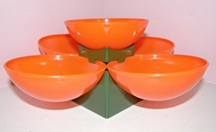 Orange serving bowl tree