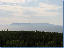 7987 Ontario Trans-Canada Highway 17 (TC-11) Thunder Bay - Terry Fox Scenic Lookout - view Sleeping Giant island