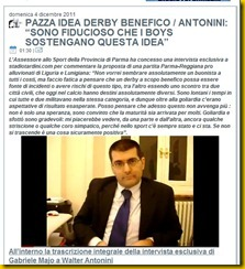 pazza idea derby benefico antonini sì
