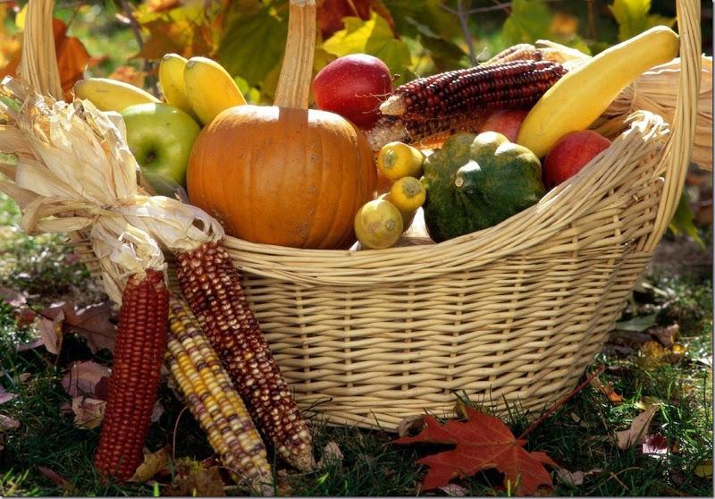 Harvest Time Autumn Harvest Basket